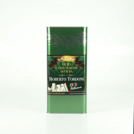 Olio Extra Vergine di Oliva 100% Italiano lattina da lt 5 filtrato